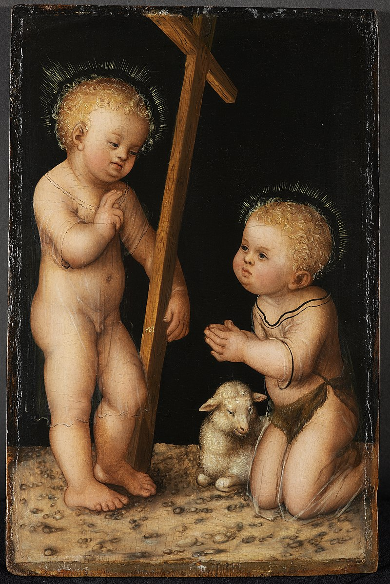 800px Infant Jesus and John the Baptist as child